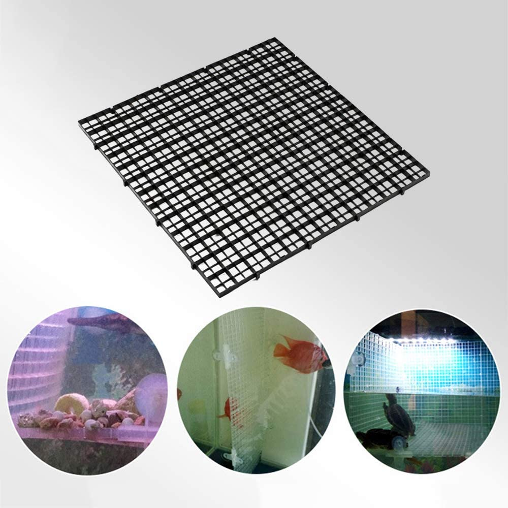 KEBY 10 Pcs Grid Separate Divider Tray Crate Net Aquarium Fish Tank DIY Filter Bottom Isolate B-30 * 30cm Suction cup clips purchased separately