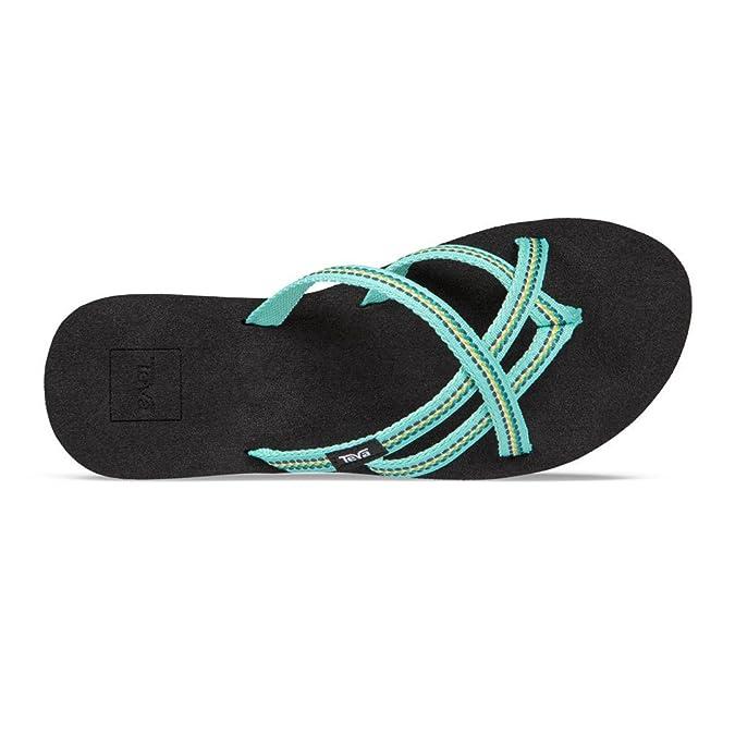 b3786fa4e5d7d Teva Olowahu Women s Flip Flops - SS18 Blue  Amazon.co.uk  Shoes   Bags