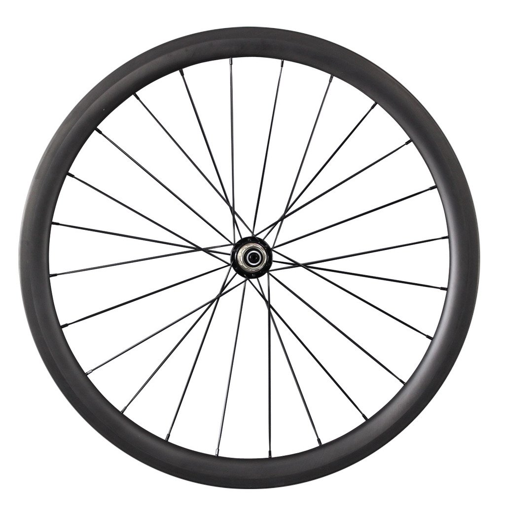ICAN 40 mm de fibra de carbono carretera bicicleta rueda trasera Borde CTL 24 agujeros: Amazon.es: Deportes y aire libre