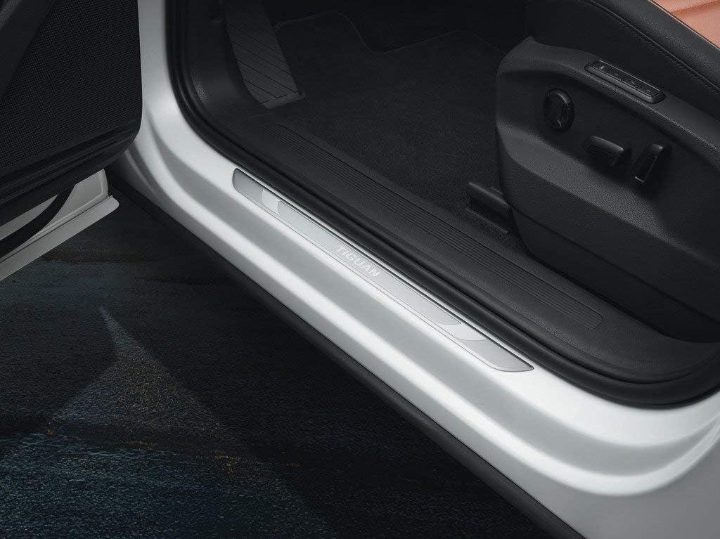 Volkswagen - Listones de umbral delanteros de aluminio, producto original para Volkswagen Tiguan MQB modelo 2016: Amazon.es: Coche y moto