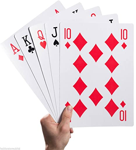 Amazon.com: Plastic Coated Giant A4 Playing Cards 52 Deck ...