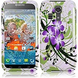 Plastic Green Lily Hard Cover Snap On Case For Kyocera Hydro Icon C6730 + Free Screen Protector (Accessorys4Less)
