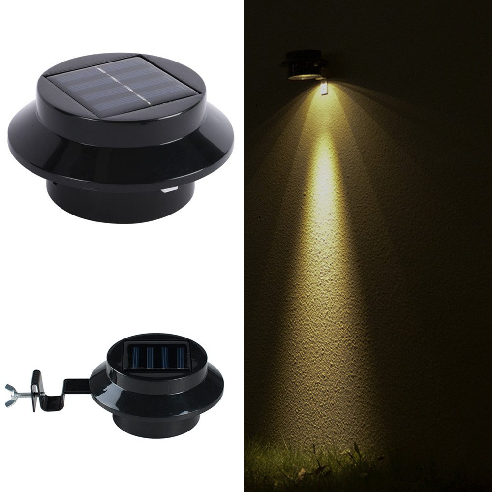 Solar Lights Outdoor, Wireless Sensor Solar Lights with Wide Lighting Area, Easy Install Waterproof Security Lights for Front Door, Back Yard, Driveway-Warm White