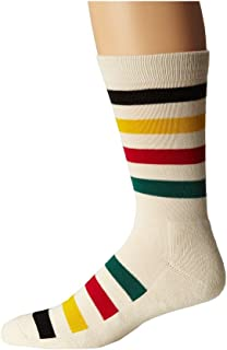 product image for Pendleton Men's National Park Crew Sock, Glacier Stripe, Sock Size:10-13/Shoe Size: 6-12
