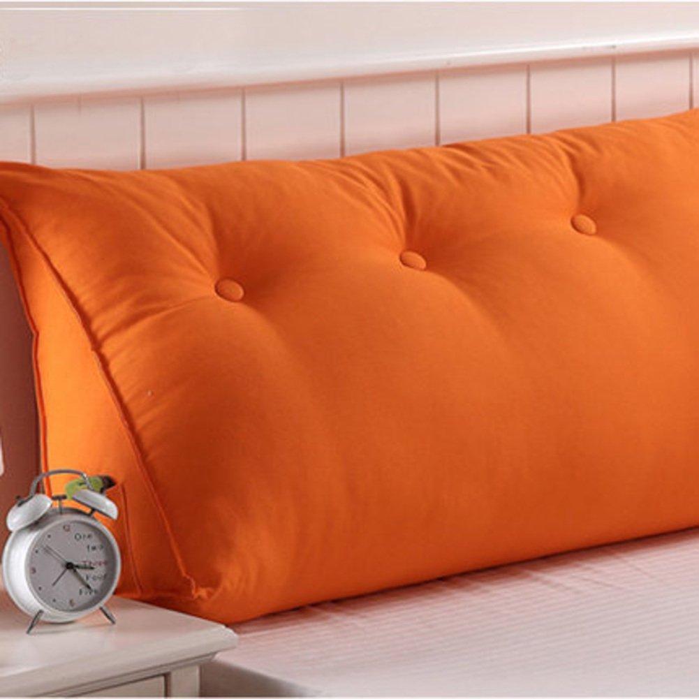 HDSGFDSHGK Full cotton padded canvas neck pillow printing big cushion plain, double waist. single waist cushion bedside backrest-R 120x50x25cm(47x20x10inch)