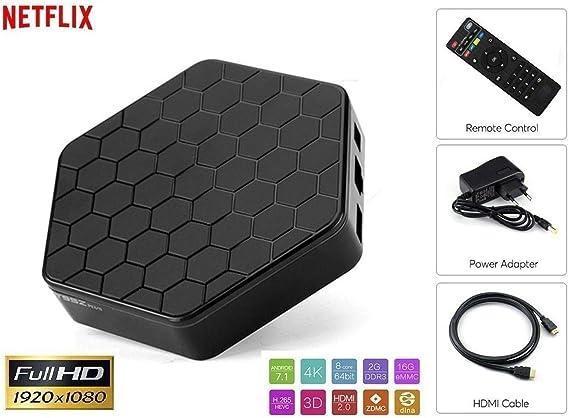 Smart TV Box Android 7.1.2 3 GB RAM 32 GB ROM WiFi andowl IPTV 4K ...