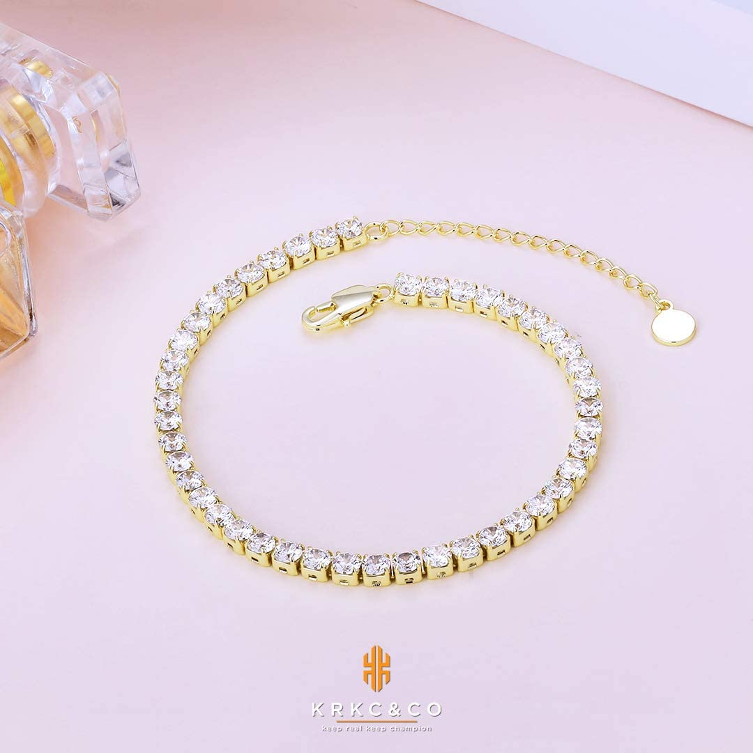 Adjustable Length Figaro//Cable Chain//Empaistic Chain Anklets 14k Gold Rosegold Plated with Extension Foot Jewelry for Women Girls KRKC/&CO Anklet Ankle Bracelets for Women
