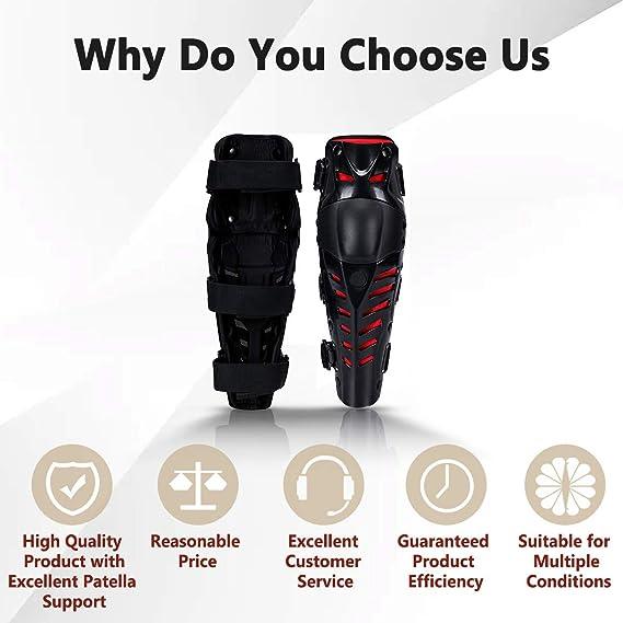 Noir 1 Paire Genouill/ère /Équipement de Protection pour Moto Motocross