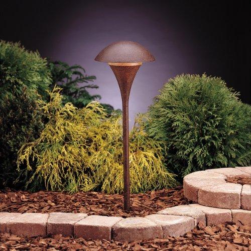 15336TZT Large Eclipse 1LT Incandescent/LED Hybrid LV Landscape Path & Spread Light, Textured Tannery Bronze Finish by Kichler - Textured Tannery Bronze Finish