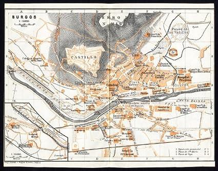 ThePrintsCollector de mapamundi antiguo-España-Plan de Burgos-Karl baedeker-1913: Amazon.es: Hogar
