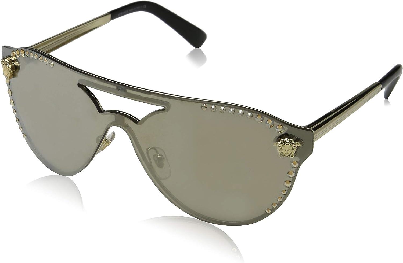 Versace Women's Shield Aviator Sunglasses