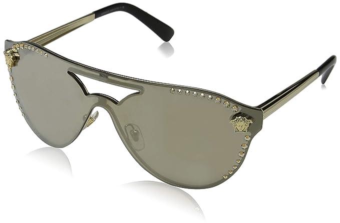 Amazon.com: Versace Women s shield Aviator anteojos de sol ...