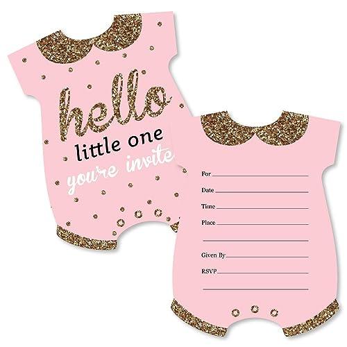 pink baby shower invitations amazon com