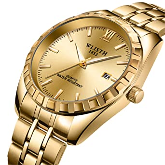 Men s Watches Luxury Classic Busineess Dress Calendar Waterproof Quartz  Analog Wrist Watch with Stainless Steel Band 7560811b1256