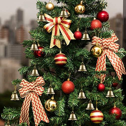 BigOtters Craft Bells, 16PCS Bronze Jingle Bells Vintage Bells with Spring Hooks Hanging for Wind Chimes Making Dog Potty Training Doorbell Christmas Halloween Thanksgiving Day Wedding Decor