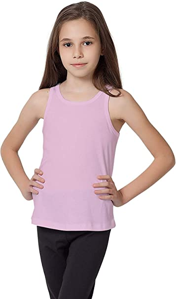 Amazon.com: CAOMP Tank Tops for Girls, Certified Organic Cotton,  Sleeveless, Ribbed Tees.: Clothing