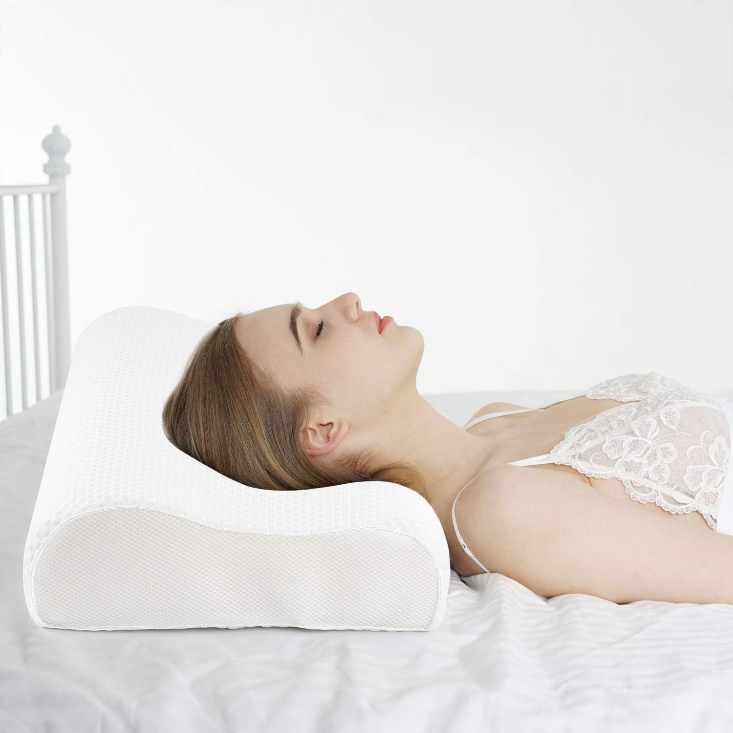 Contour Cervical Memory Foam Bed Pillows Magnetic Therapy Neck Shoulder Support