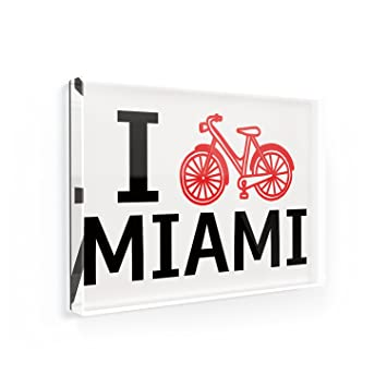 Amazoncom Fridge Magnet I Love Cycling City Miami Neonblond