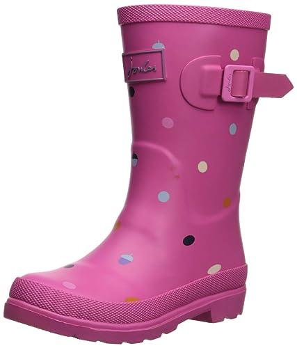 Girls 4 US Joules Girls Welly Rain Boot Granny Floral 3 Medium UK Little Kid