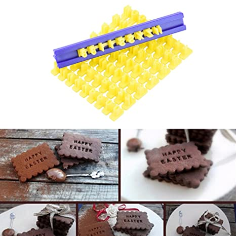 Alfabeto Números Letras Moldes DIY sello – Molde para galletas Forma lianle