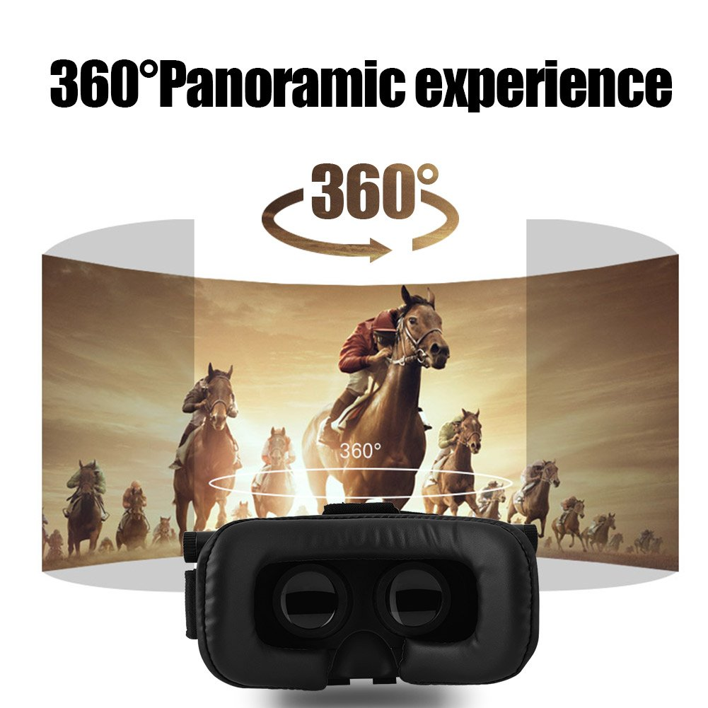 Virtual Reality Goggles 3D VR Goggles Headset for TV Movies /& Video Games 3.5-6.0inch Smartphone