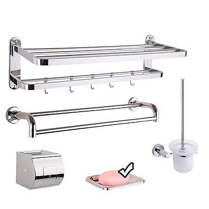 FUFU Estantes para Baño Acero Inoxidable 304 toallero Acero ...
