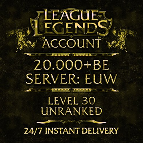 Price comparison product image League of Legends Account EUW Level 30 20.000+ IP Unranked Unverified Email