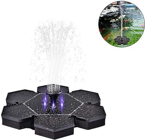 Vogel-Bad Fisch-Getr/änke Solar Schwimmender Font/äne Pumpe mit 4 Font/änenstile f/ür Garten Solar Wasserpumpe Teich Solar Springbrunnen
