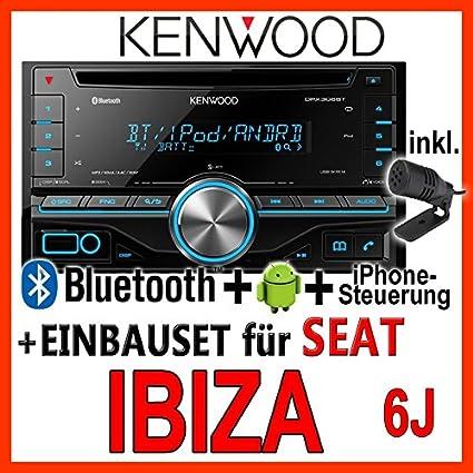 Seat Ibiza 6j Anthracyte Black Kenwood Dpx405bt 2din Bluetooth Usb Autoradio Einbauset Audio Hifi