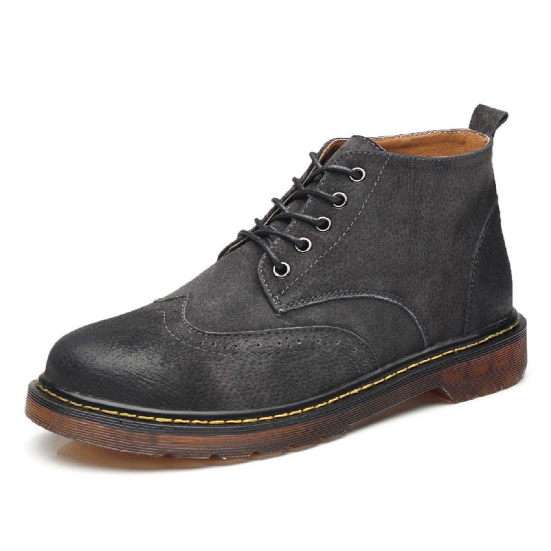 Herren Winter Große Größe Martin Stiefel Warm halten Werkzeugschuhe Lässige Schuhe Freizeit Lederschuhe Schuhe erhöhen EUR GRÖSSE 38-46