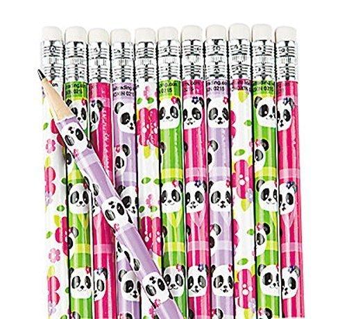 Fun Express Educational School Panda Pencils - 24 Pieces ()
