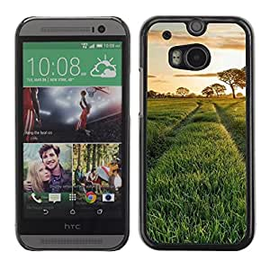 "For HTC One ( M8 ) , S-type Naturaleza Hermosa Forrest Verde 115"" - Arte & diseño plástico duro Fundas Cover Cubre Hard Case Cover"