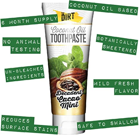 The Dirt All Natural Gluten & Fluoride Free Coconut & MCT Oil Toothpaste