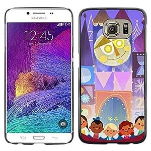 FECELL CITY // Duro Aluminio Pegatina PC Caso decorativo Funda Carcasa de Protección para Samsung Galaxy S6 SM-G920 // Kids Mother Circus Drawing