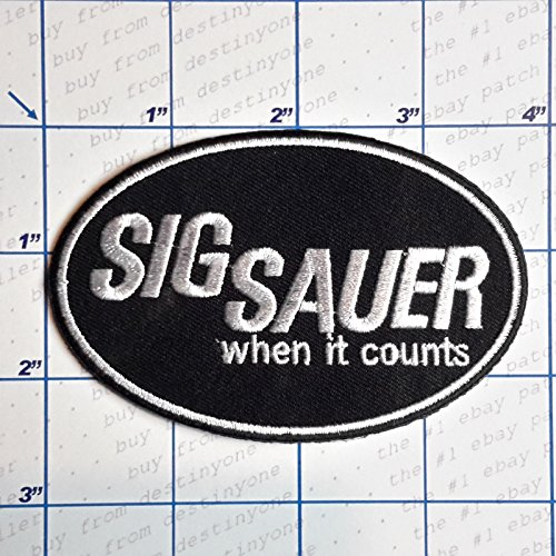 SNOW - 1 PC DIY New Guns - Firearm Makers Patches - Iron-On Embroidered Gun Theme Patch Series # Sig Sauer When It - Series Sig