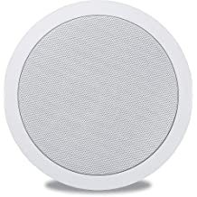 Polk In-Ceiling Speaker with 6-1/2' Dynamic Balance Woofer and 3/4' Aimable Silk Dome Tweeter, Features Patented Dynamic Balance Technology with Paintable White Matte Grille & Durable Moisture Resistant Construction, Easy One-Cut, Drop-In Installation