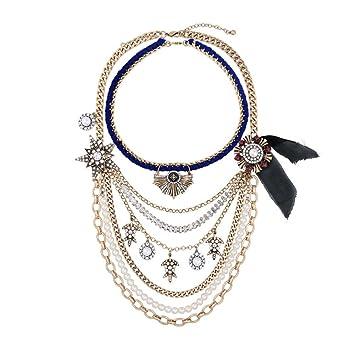d0291957240a Collar De Múltiples Capas Para Las Mujeres Jóvenes Accesorios De Moda  Vintage De Verano