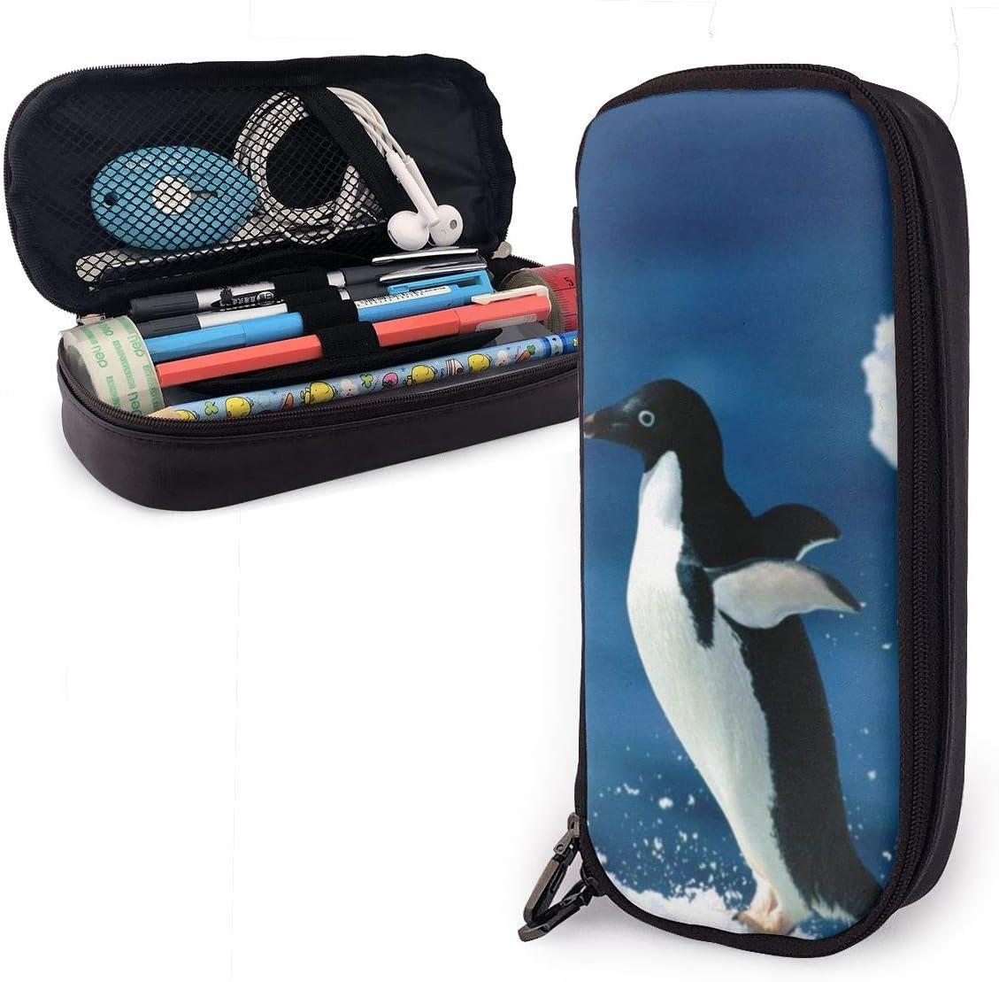 Estuche para lápices con diseño de pingüino para niños y niñas: Amazon.es: Oficina y papelería