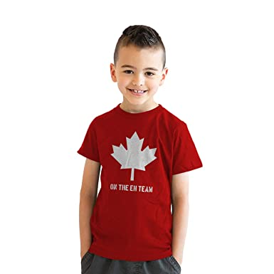 f141b66ef337 Youth Eh Team Canada T shirt Funny Canadian Shirts Kids Novelty T shirt  Hilarious (Red
