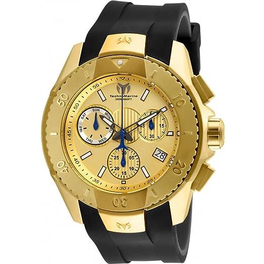Technomarine UF6 Cronógrafo suizo 48 mm color dorado reloj de pulsera de los hombres de acero inoxidable tm-617001: Technomarine: Amazon.es: Relojes