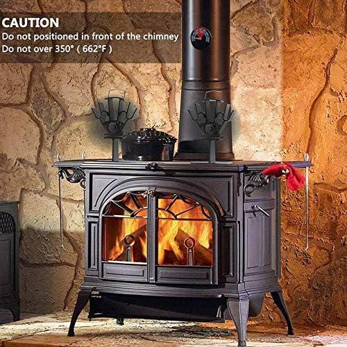 4ブレード熱駆動ファン、木製バーナーストーブトップファン、自走式の環境に優しい熱循環、木材/ログバーナー/暖炉用