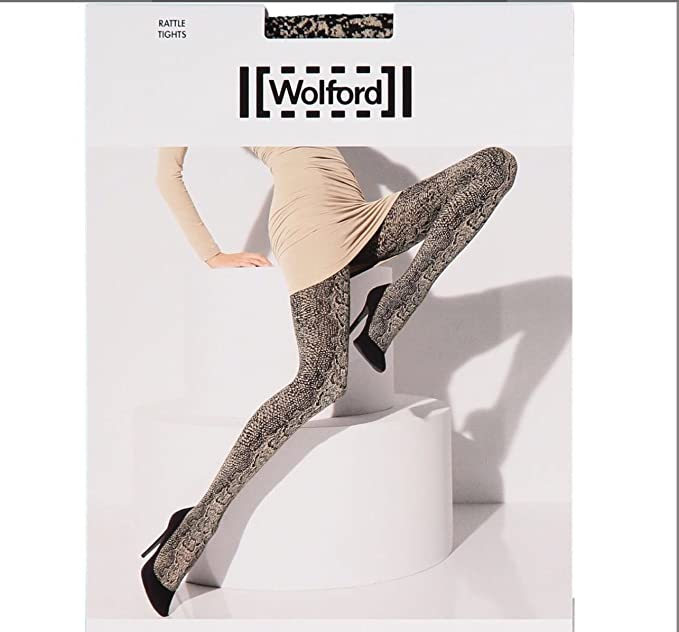 Tights NEW size XS 93/% nylon and 7/% spandex snake print Wolford Rattle