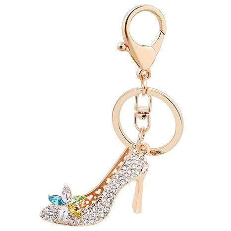 Amazon.com: Llavero con diamantes de imitación de alta ...