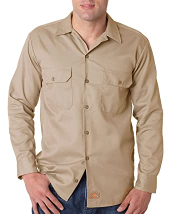 cbbbed17521 Dickies - Men s 5.25 oz. Long-Sleeve Work Shirt    S