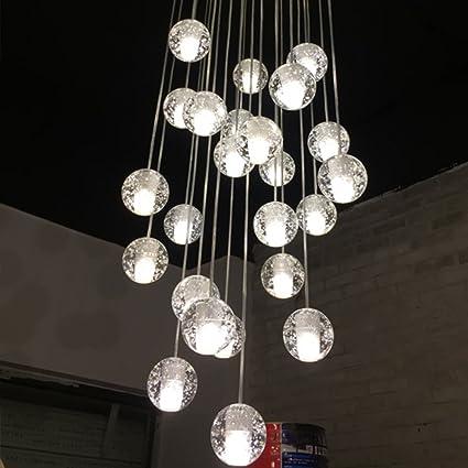 Modern Led Chandelier Restaurant Fixtures Glass Ball Luminaires Nordic Hanging Lights Bedroom Lighting Living Room Pendant Lamps Lights & Lighting