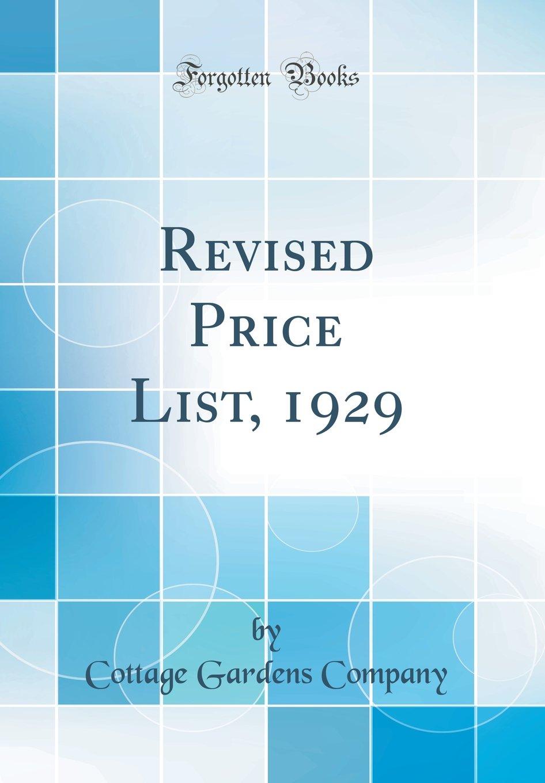 Revised Price List, 1929 (Classic Reprint) pdf epub