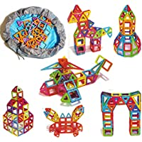 FSC 2 in 1 Magnetic Building Blocks (92-PCS) in a Storage Bag That Turns Into Play Mat