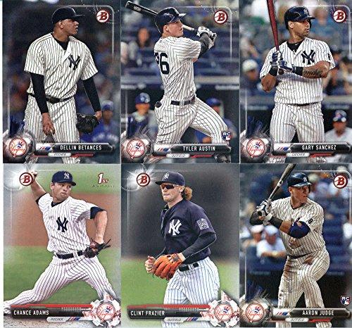2017 Bowman & Prospects New York Yankees Party Set of 11 Cards: Aaron Judge(#32), Dellin Betances(#72), Gary Sanchez(#85), Tyler Austin(#86), Blake Rutherford(#BP121), Justus Sheffield(#BP132), Wilkerman Garcia(#BP147), Clint Frazier(#BP16), Conceivably A