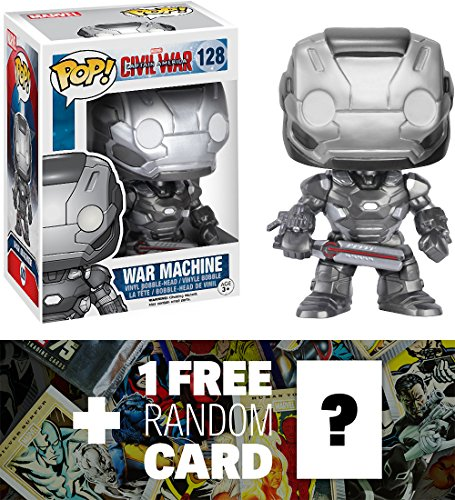 War Machine: Funko POP! x Captain America Civil War Bobble-Head Figure + 1 FREE Official Marvel Trading Card Bundle [72278]