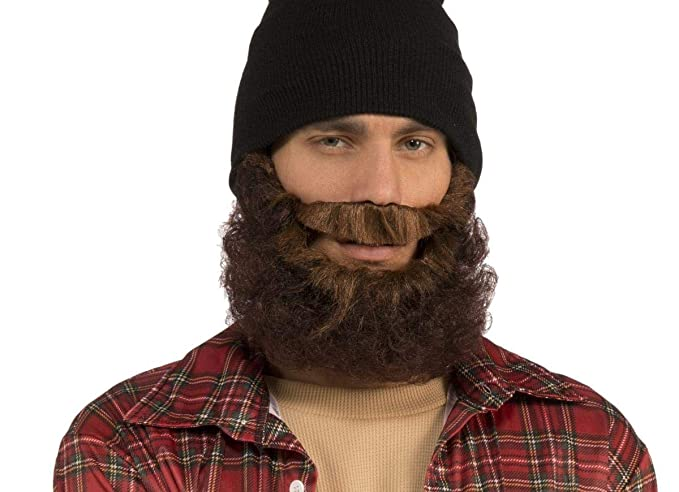 Amazon Com Forum Novelties 72517 Curly Beard With Attached Mustache